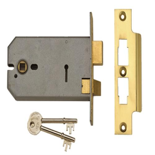 Union 2077-6 Lock Polished Brass 149mm