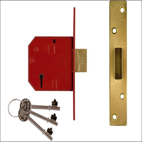 Union 2134e Deadlock Satin Chrome 2.5