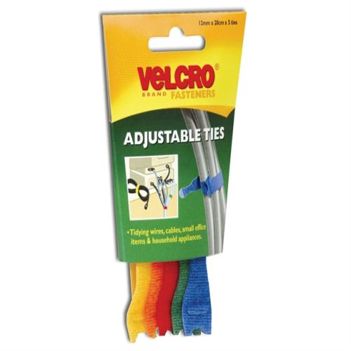 Velcro® Brand One-wrap® Reusable Ties(6)black