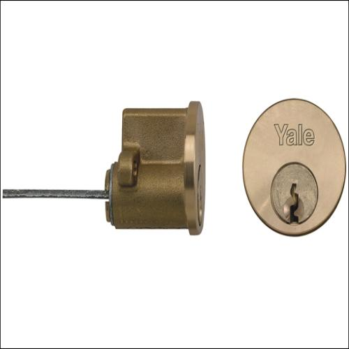 Yale P1109 6 Keys Polished Brass Finish Visi