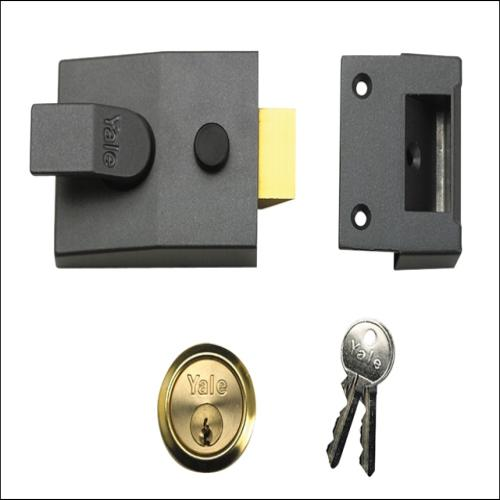 Yale P88 Standard Nightlatch Dmg Finish Visi