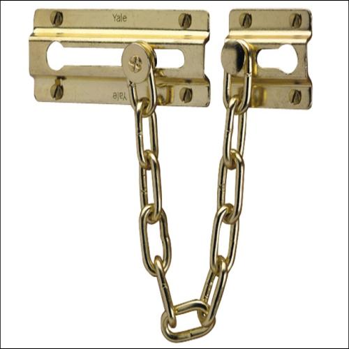 Yale P1037 Door Chain Brass Finish