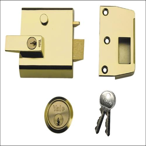 Yale P1 Double Security Brasslux Finish Visi