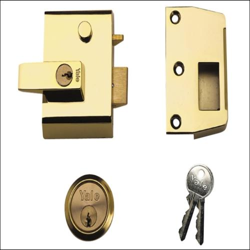 Yale P2 Double Security Brasslux Finish Visi
