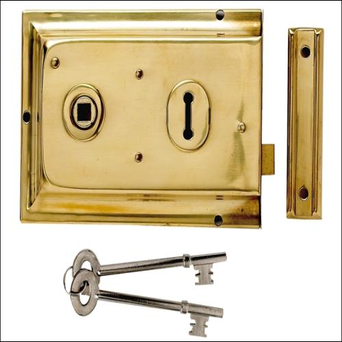 Yale P334 Rim Lock Chrome Finish 156x104mm Vi