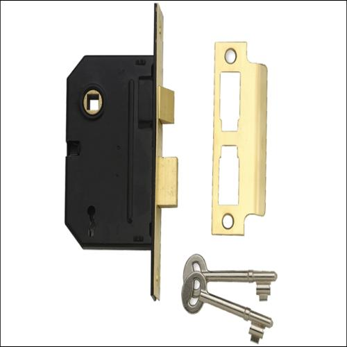 Yale Pm246 2 Lever Sashlock Smooth Brass 2.5