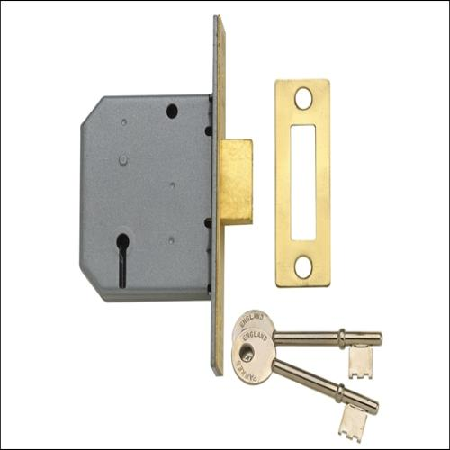 Yale Pm322 3 Lever Deadlock Smooth Brass 2.5