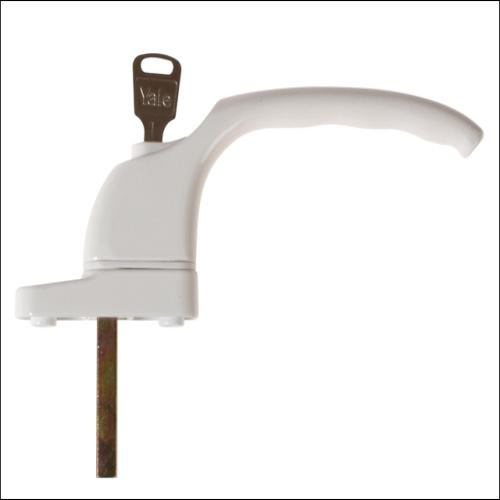 Yale Pvcu Window Handle White Finish